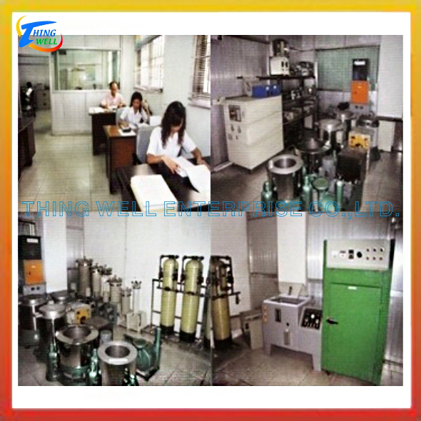 Electroplating machinery, salt sprayer, titanium heater.