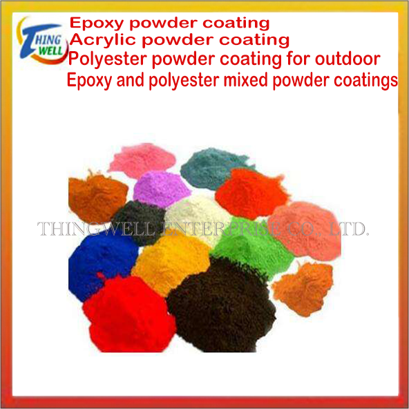 Epoxy, polyester, acrylic, high temperature resistant powder coating