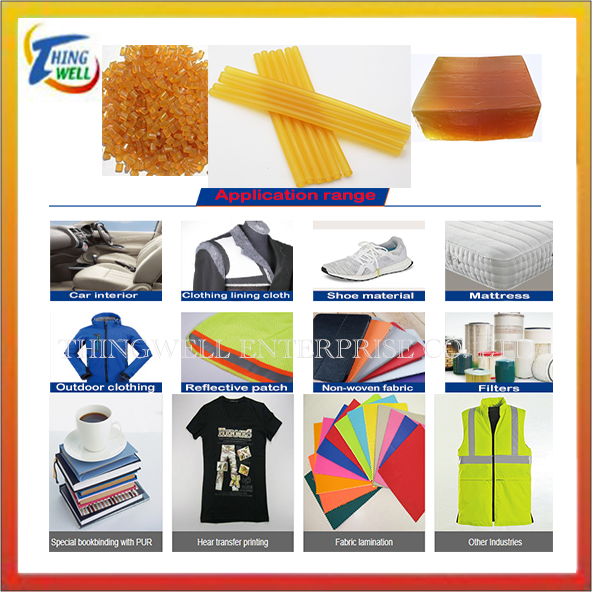 Hot melt adhesive, PE, PES, PA, EVA, TUP, hot melt adhesive, grain, strip, block, PLA biodegradable plastic masterbatch