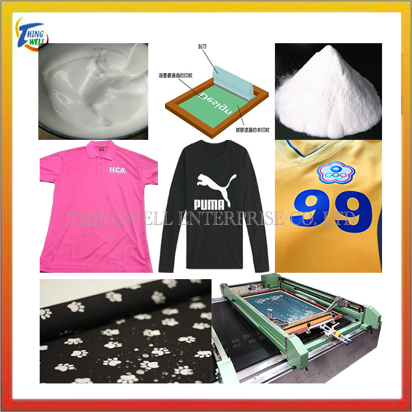 Fabric environmentally friendly silk screen water-based ink, Thermal transfer rubber powder